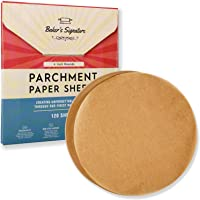 4 Inch Rounds Pack of 120 Parchment Paper Baking Sheets by Baker's Signature | Precut Silicone Coated & Unbleached…