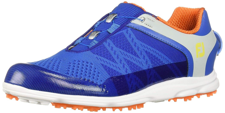 FootJoyスポーツSL Boa Spikelessゴルフシューズ2017レディース 6 C/D US Blue/Light Gray/Orange B0757STL27