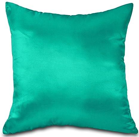 Azul/turquesa de tafetán/seda sintética 45,72 cm funda de ...