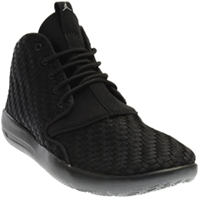 a6c23c5e20f Jordan Eclipse Chukka Woven BG Basketball Shoes (5) Black Cool Grey