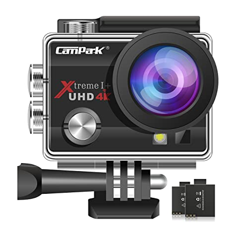 Review Campark ACT74 Action Camera 16MP 4K WiFi Waterproof Sports Cam 170 Degree Ultra Wide Angle Lens with 2 Pcs Rechargeable Batteries and Mounting Accessories Kits