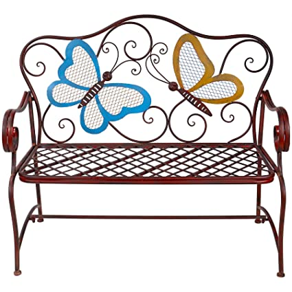 Marvelous Alpine Corporation Butterfly Garden Bench Outdoor Decor For Backyard Patio Deck Garden Bronze Pabps2019 Chair Design Images Pabps2019Com