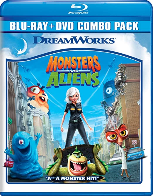 Monsters Vs Aliens [Reino Unido] [Blu-ray]: Amazon.es: Cine y Series TV
