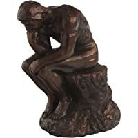 (18cm Tall) - The Thinker by Rodin Reproduction Statue, 18cm