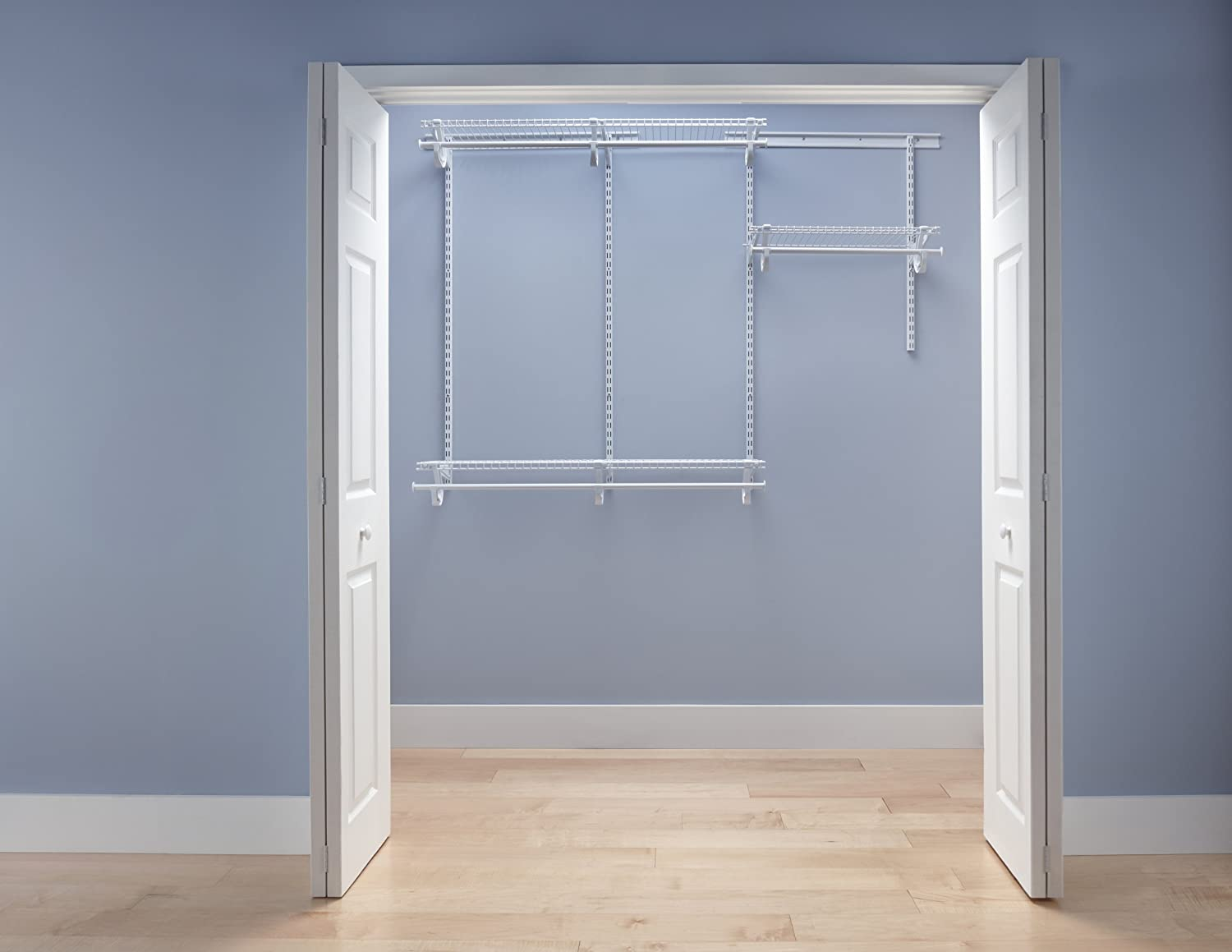 Amazon.com: ClosetMaid 22873 ShelfTrack 4ft. to 6ft. Adjustable ...