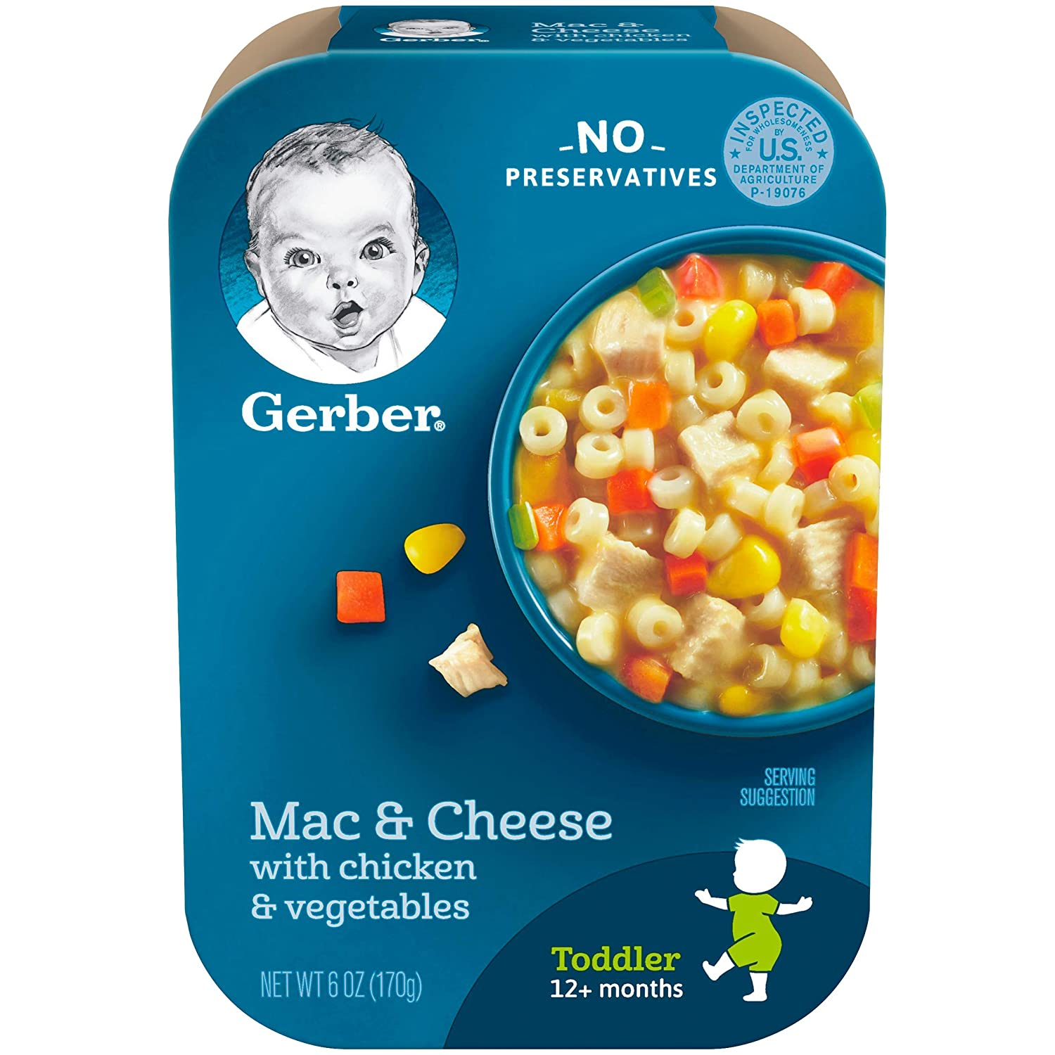 B00BPETQXM Gerber Mac & Cheese with Chicken & Vegetables, 6 Ounce (Pack of 6) 81yt9-koSGL