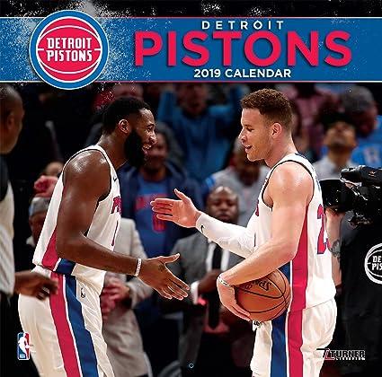promo code c3e03 48847 Amazon.com: Turner 1 Sport Detroit Pistons 2019 12X12 Team ...