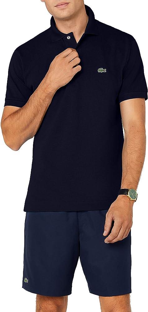 Lacoste L1212 Camiseta Polo, Azul (Marine), S para Hombre: Amazon ...