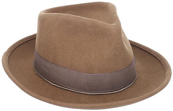 c81cff9bdb3 Brixton Trilby Hat wool felt men Swindle - Size XL - naturel  Amazon ...