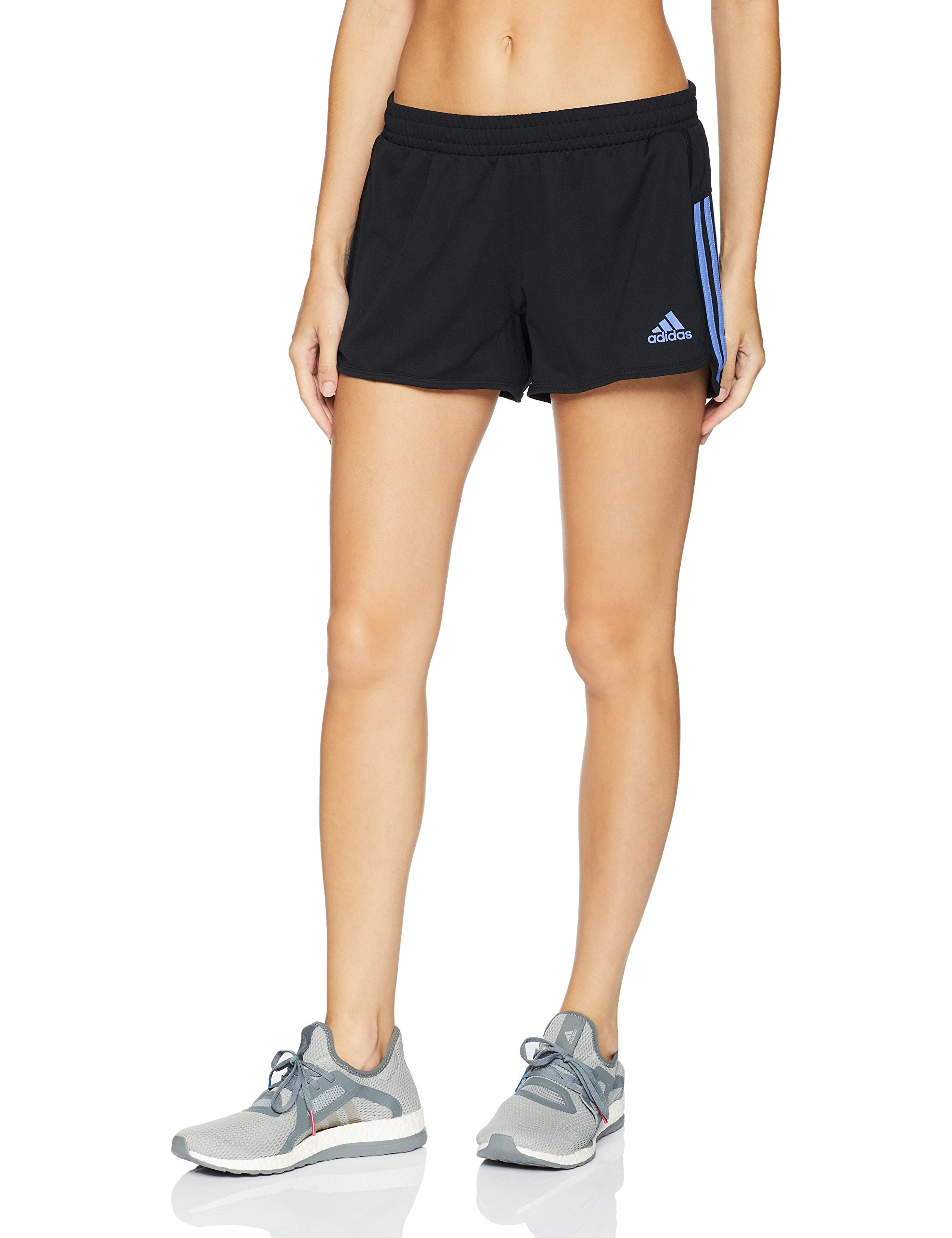 adidas Women's Training Designed-2-move Knit Short, Black/Real Lilac, X-Small by adidas