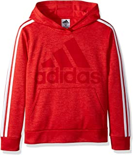 Adidas Little Boys Athletic Pullover Hoodie Sweat Shirt Red Orange  4 7 5 6