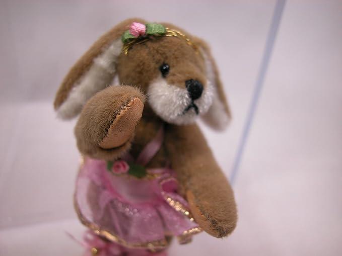"World of Miniature Bears 2.5/"" Cashmere Bear Stacy #604 Rabbit"