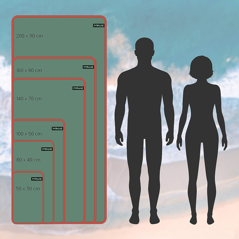Schnelltrocknendes und ultraleichtes Mikrofaser Handtuch Ideal f/ür Deine n/ächste Reise an den Strand oder Backpacking Tour MAVE Microfaser Reisehandtuch in Allen Gr/ö/ßen