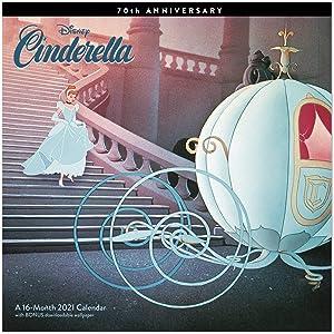 """Mead 2021 Disney Cinderella 70th Anniversary Wall Calendar, 12"""" x 12"""", Monthly (DDW34828)"""