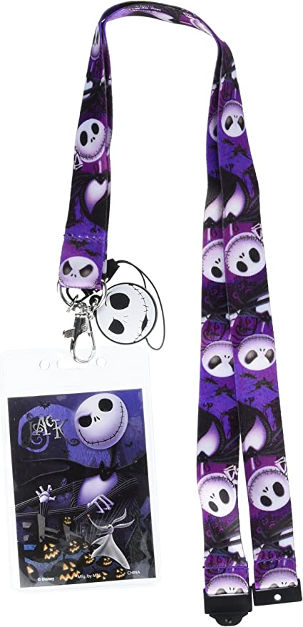 Jack and Sally Lanyard with Soft Dangle /& Card Holder *NEW* Disney