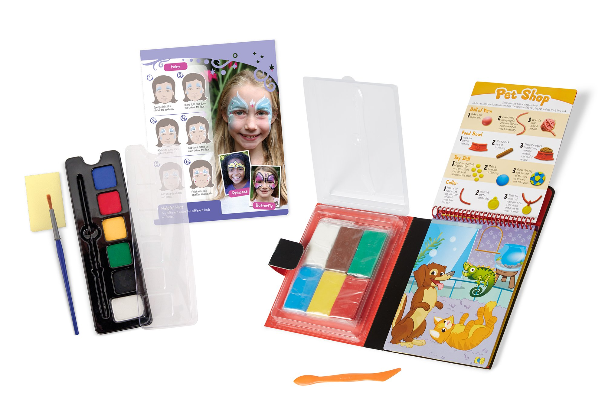Melissa & Doug On the Go Craft Activity Sets - Face Painting and Clay Creations by Melissa & Doug (Image #1)