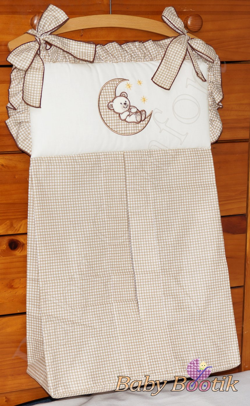 NAPPY STACKER/DIAPER BAG MATCH BABY NURSERY COT/COT BED BEDDING - MOON BEIGE Babycomfort