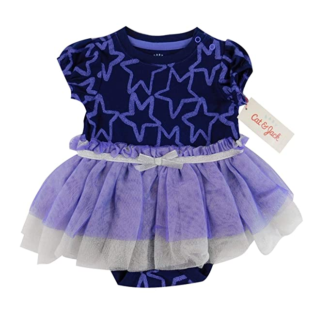 ffd43a558c Image Unavailable. Image not available for. Color: Cat & Jack Baby Girl  Purple & Silver Tutu Dress - 3-6 Months
