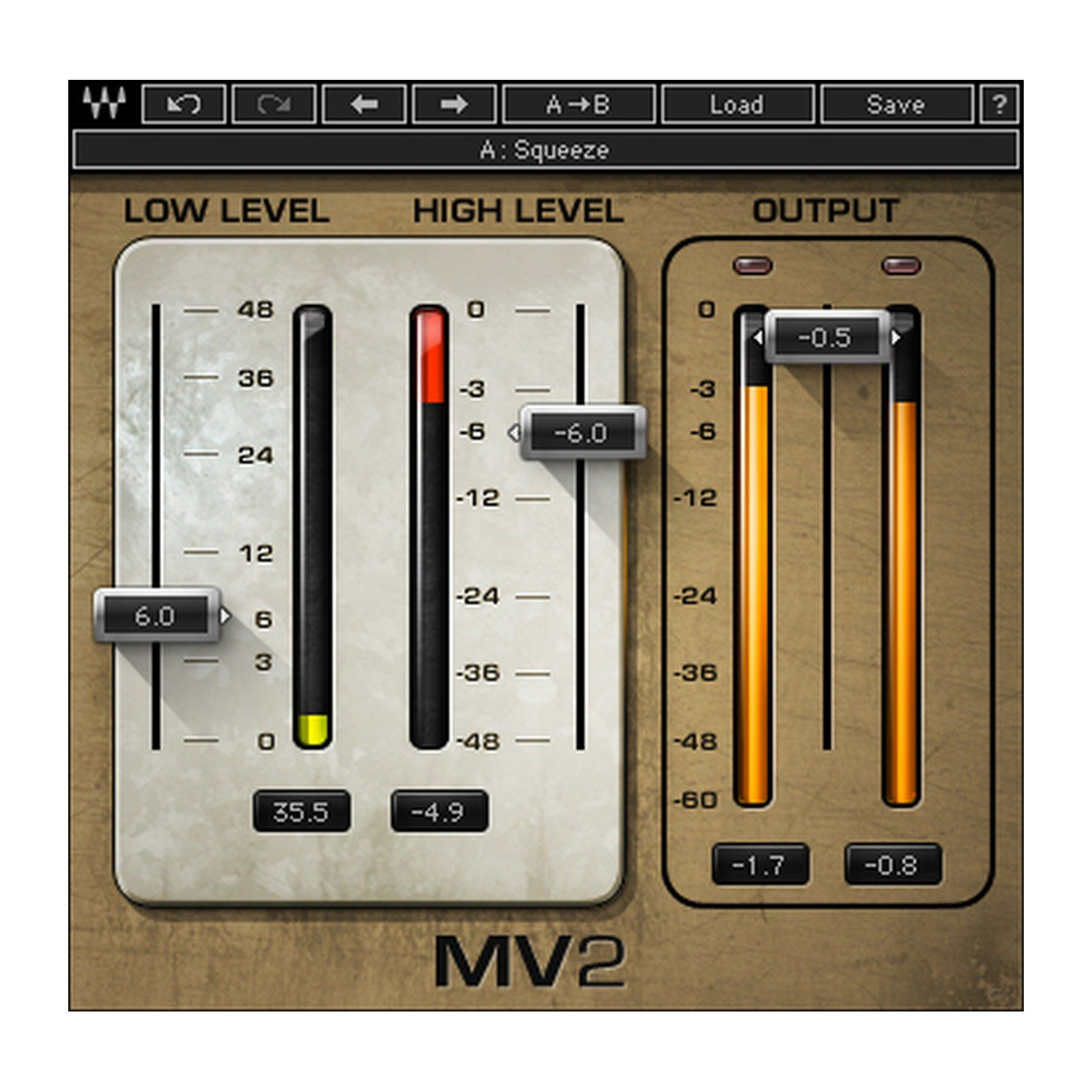 Waves MV2 | High and Low Level Compression Plugin Software Download Only by Waves