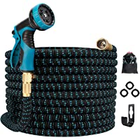 Gpeng Best Expandable Garden Hose , 25ft Water Hose with 8 Function Spray Nozzle and 3/4 Solid Brass Fittings , Easy…