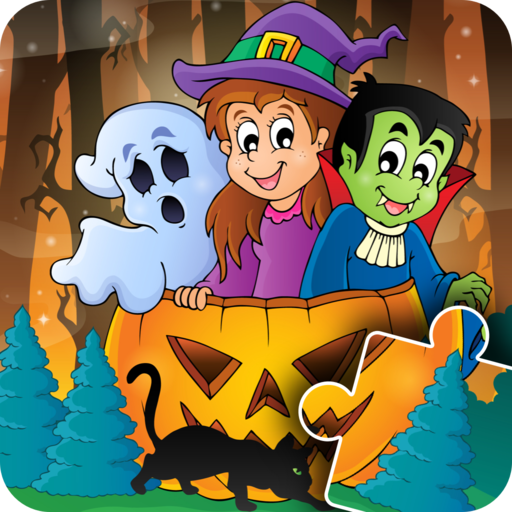 Kids Halloween Jigsaw Puzzle - fun & happy game for preschool toddlers, boys and girls - Free -