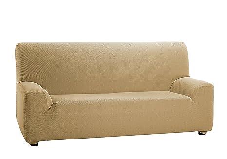 Texturas VIP- Funda de sofá Elástica Low Cost (Varios tamaños Disponibles) (4_Plazas_210_240_cms, Teja)