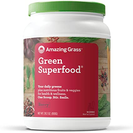 Amazing Grass Green SuperFood Berry, 100 servilletas, 28,2 ...