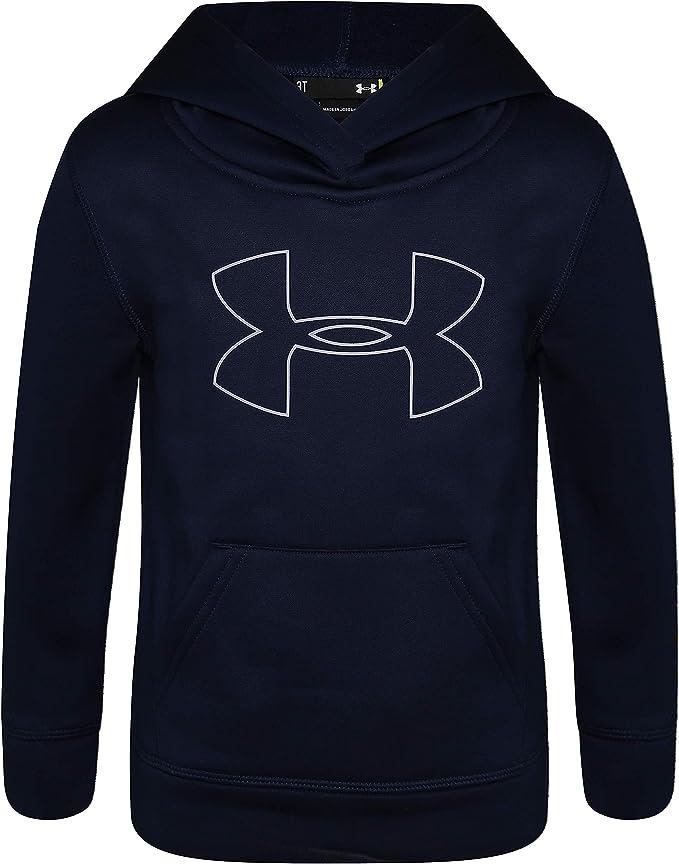 Under Armour Boys' Little Big Logo Hoodie, Academy H19, 4