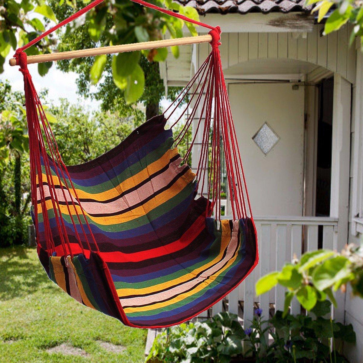 Global Brands Online Giardino Patio ad Ispessirsi Amaca Sedia all'Interno e all'Esterno del Cotone Swing Cuscino.