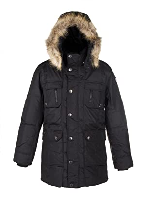 Pajar Men's TYLER Down Parka Jacket Rabbit fur lined hood and ...