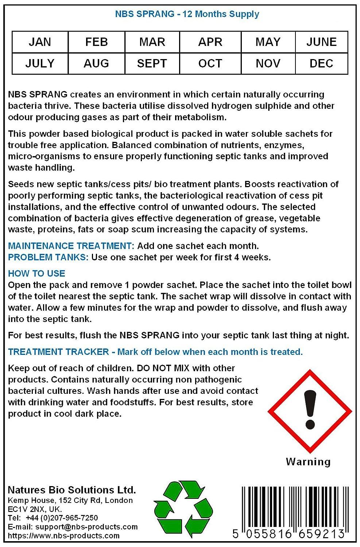 NBS SPRANG 12 meses de suministro - tratamiento de tanque séptico