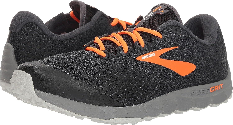 Brooks Mens PureGrit 7 B078HRC63G 9.5 D(M) US|Black/Orange/Grey