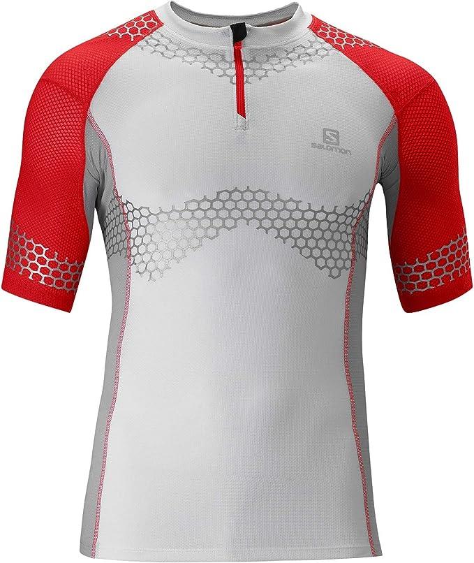 SALOMON EXO Slab Tech Zip Shortsleeve Tee Men's T Shirt XL tTywZ