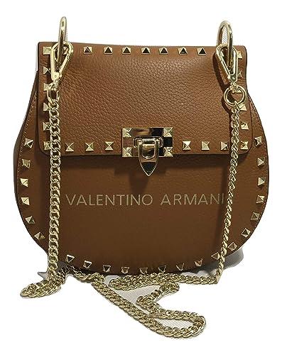 f0cc821f0ea1 VALENTINO ARMANI Italian Fashion Designer. Luxury Brand. Shoulder Crossbody  Calf Leather Handbag  Handbags  Amazon.com