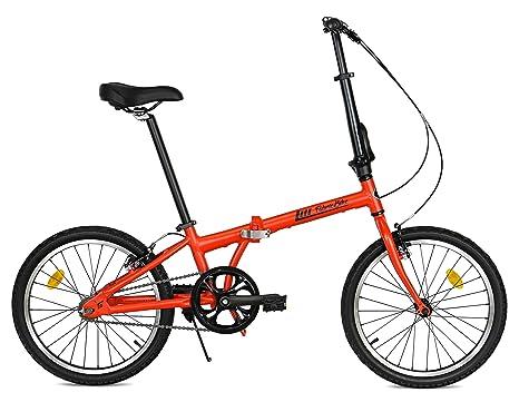 Bici Alluminio Pieghevole.Fabricbike Folding Pieghevole In Alluminio 20 Bicicletta Single Speed 3 Colori Matte Red