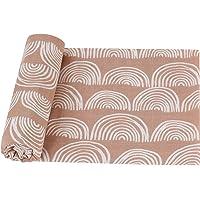 LifeTree Baby mousseline doek - zachte grote baby mousseline Swaddle dekens - bamboe katoen, regenboog ontwerp, aardse…