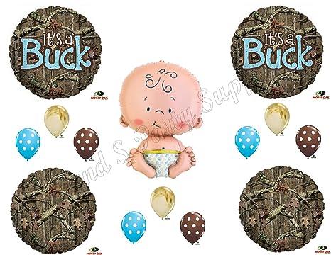 Amazon its a buck camouflage baby boy shower balloons its a buck camouflage baby boy shower balloons decoration supplies mossy oak filmwisefo