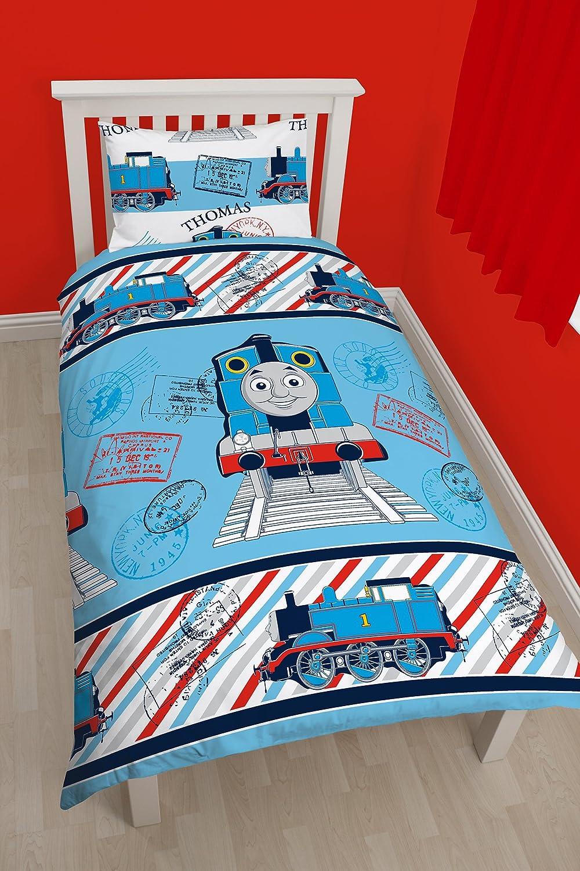 Character World 91 cm Single Thomas Adventure Rotary Duvet Set, Multi-Colour TTTADVDS002UK1