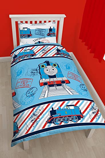 Thomas the Tank Engine Single Duvet Cover Set. Amazon com  Thomas the Tank Engine Single Duvet Cover Set  Home