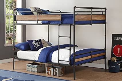 Amazon Com Major Q Metal Tube Supported Queen Queen Bunk Bed With
