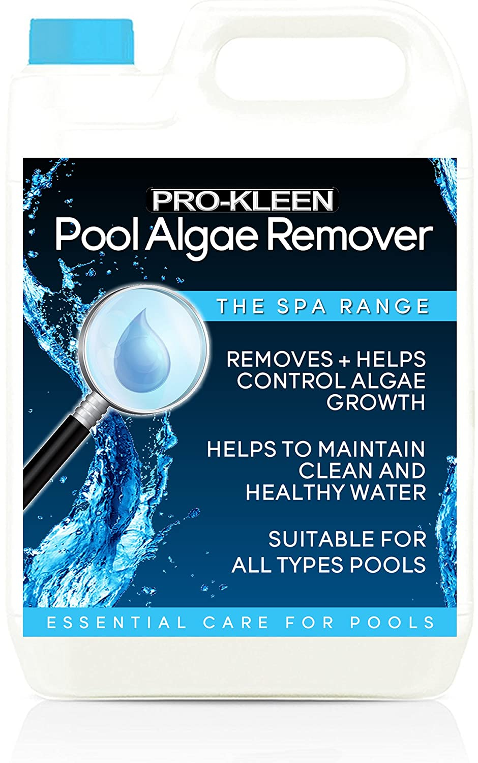 Pro-Kleen Pool Algae Remover 5L - Removes & Prevents Algae Growth - High Concentration, Long-Lasting Professional Formula