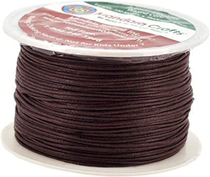 waxed cotton cord jewelry ribbon cotton band 1 mm dark brown cotton cord thread 5 m wax ribbon Griffin