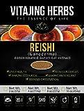 Organic Red Reishi Mushroom Extract Powder (4oz / 114gm) 20:1 Concentration (Ganoderma Lucidum, Lingzhi) Pure Wildcrafted, Certified Organic, Vegan, Non-gmo, Gluten-free