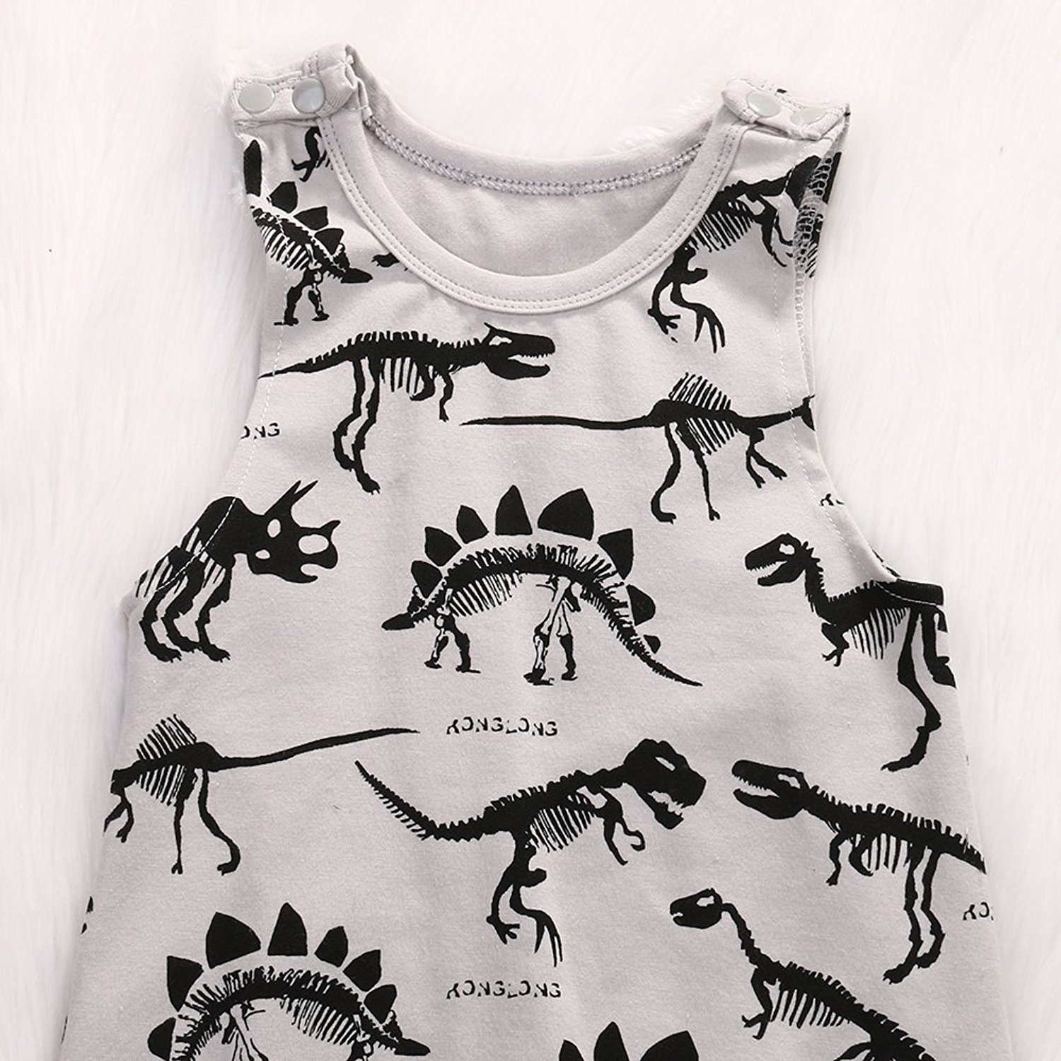 Summer Baby Boy Girl Animal Printed Sleeveless Romper One-Piece Bodysuit Jumpsuit Outfits