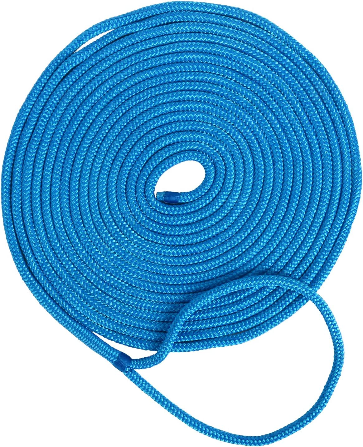 "Reflective Dock Line 1//2/"" 20/'Premium Double Braided Nylon Rope//Mooring Line Blue"