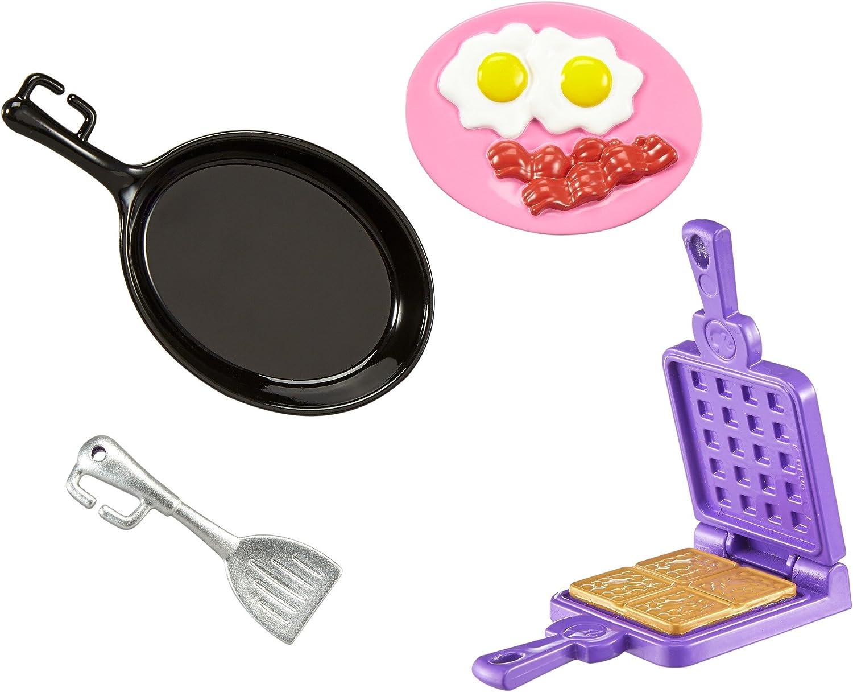 SET of 4 Barbie Stocking Stuffer Mini Sets Kitchen Pasta Baking Breakfast NIB