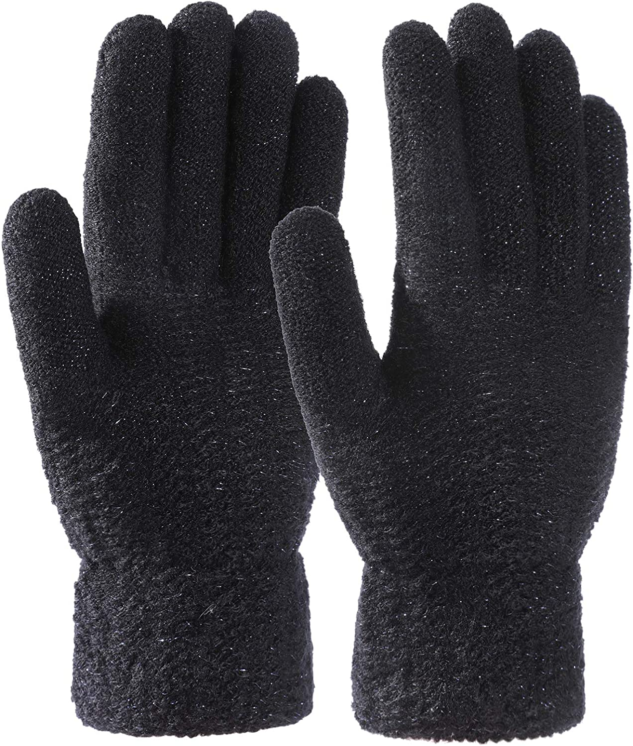 STARHOO Winter Thermal Gloves for Women Fleece Lined Knitted Gloves for Cold Weather