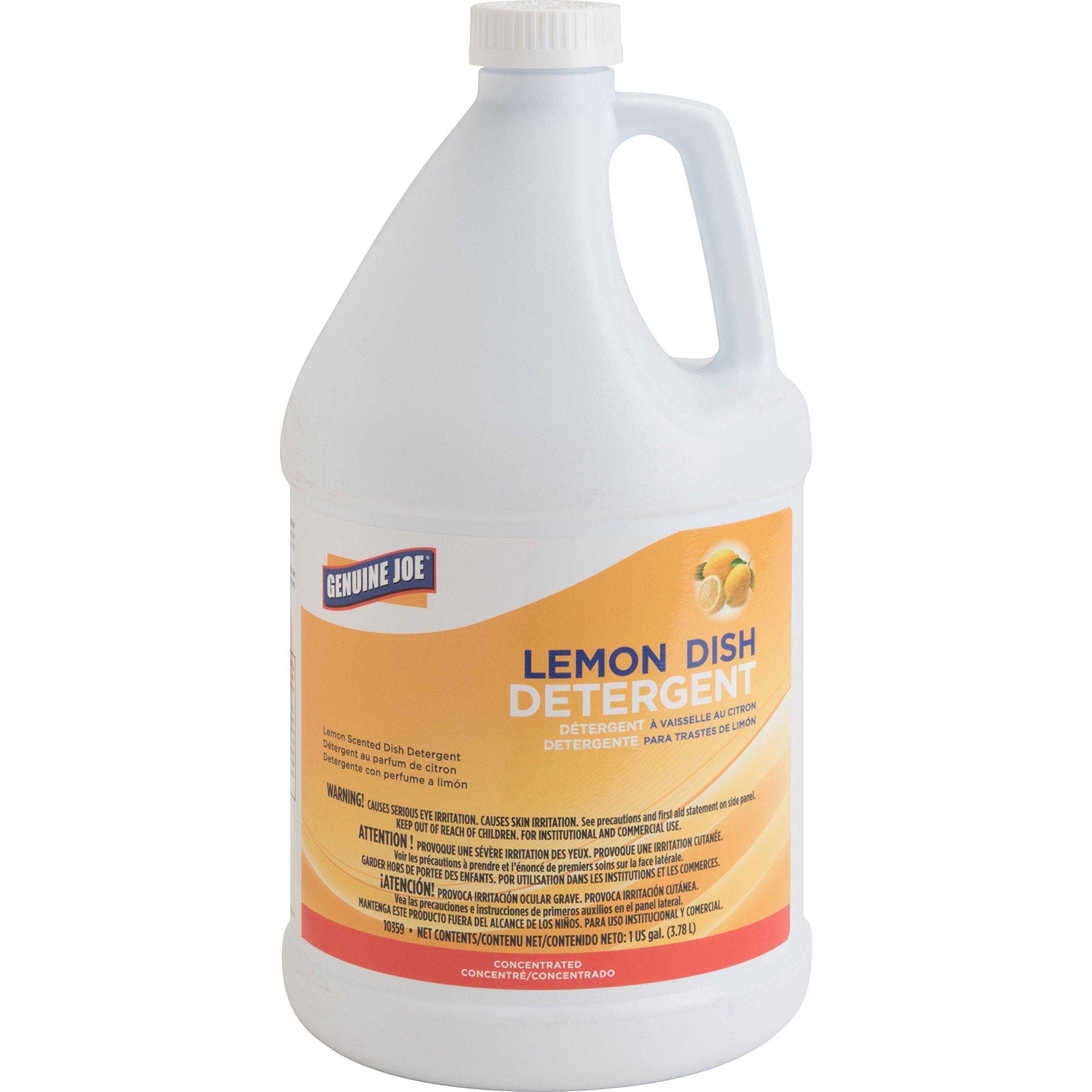 Genuine Joe GJO10359 Lemon Scent Gallon Dish Detergent, 128oz by Genuine Joe