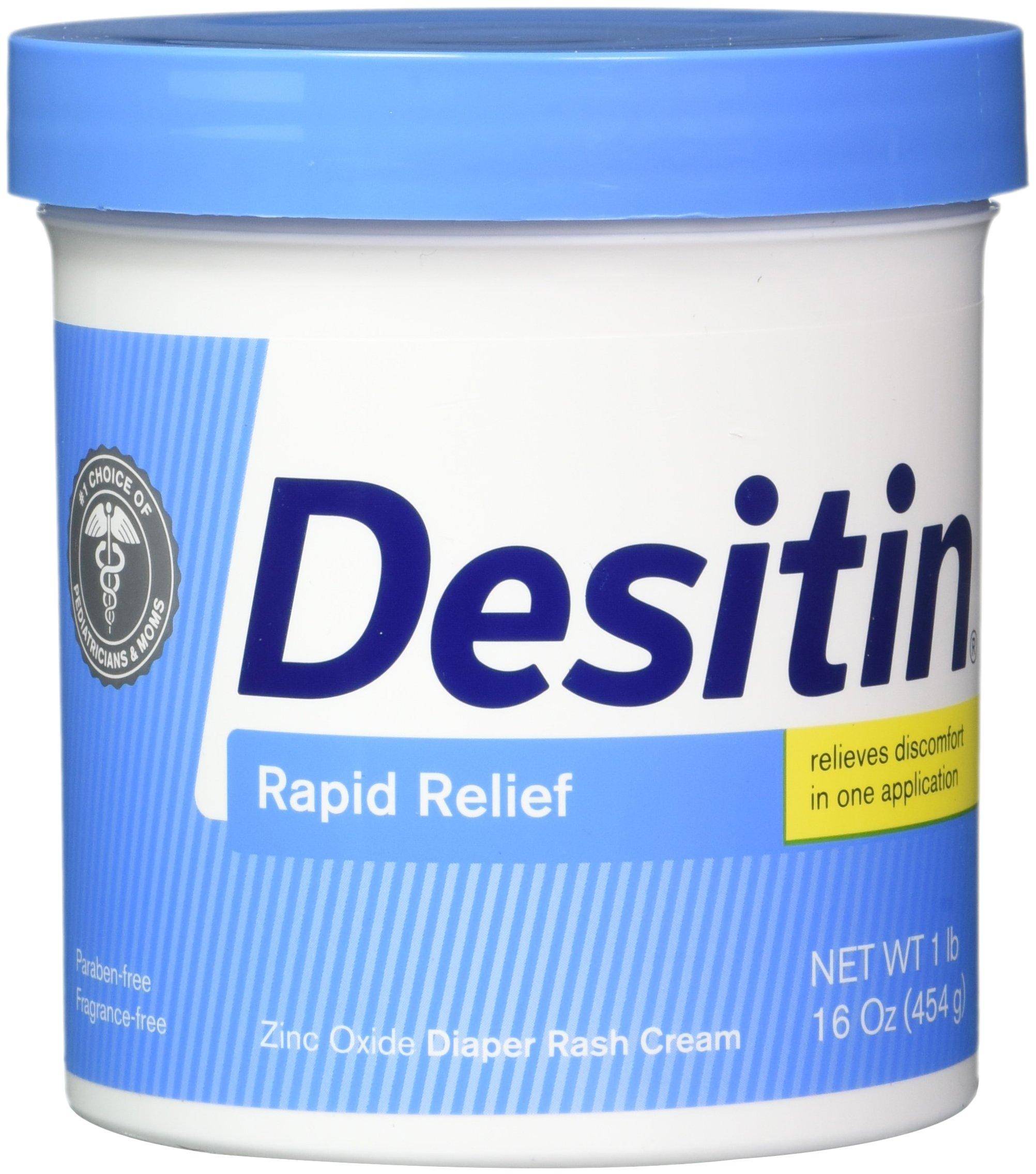 DESITIN Rapid Relief Creamy Jar, 16-Ounce (Pack of 4) by Desitin