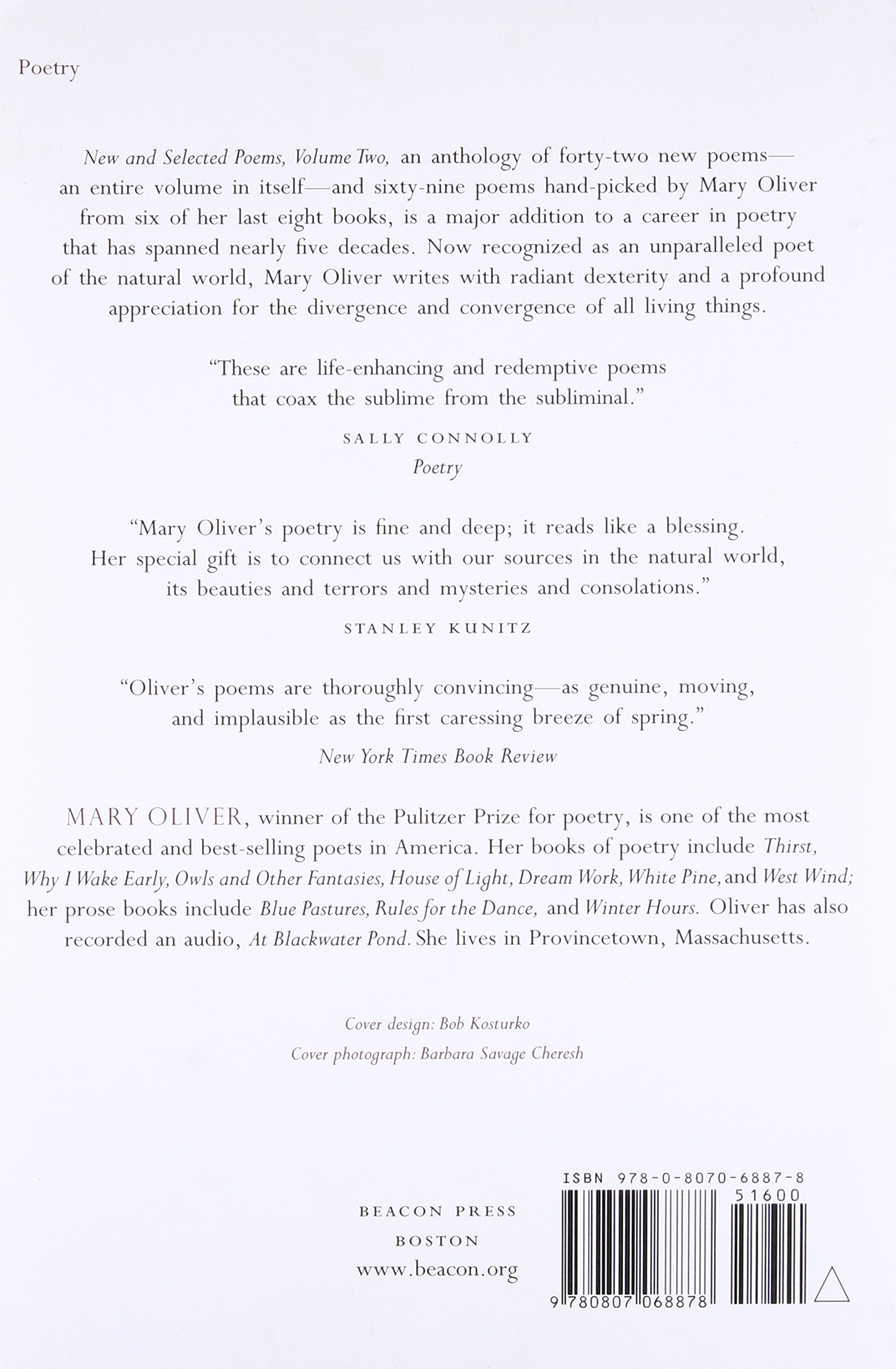 new and selected poems vol 2 mary oliver 9780807068878 amazon